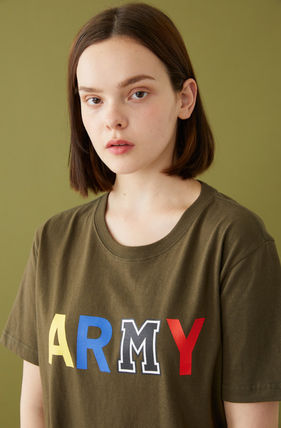 MSKN2ND Tシャツ・カットソー ☆MSKN2ND ☆ Tシャツ ARMY M PRINTED SS T-SHIRT 男女兼用 (15)