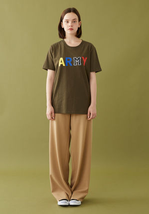 MSKN2ND Tシャツ・カットソー ☆MSKN2ND ☆ Tシャツ ARMY M PRINTED SS T-SHIRT 男女兼用 (18)