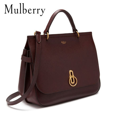 Mulberry ショルダーバッグ・ポシェット 【送料込】Mulberry 18SS Amberley Oxblood ショルダー バッグ