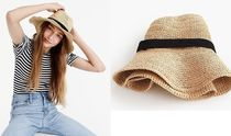 J.CREW ☆Wide-brim packable straw hat ストロー帽子 国内発送