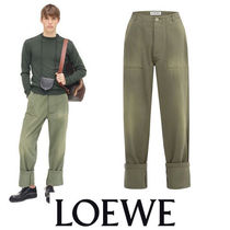 LOEWE Patch Pocket Trousers カーキ ミリタリ感をラフに着流す