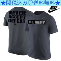 ★NIKE★United States Army Grey 'Never Accept Defeat' Tee★