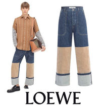 LOEWE Patch Pocket Jeans Knee Insert インディゴ 大胆な切替