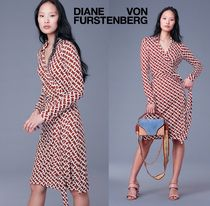 DVF 大人気チェーン柄★New Jeanne Two Silk Jersey Wrap Dress
