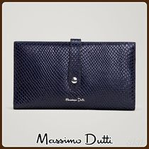 MassimoDutti♪LEATHER WALLET WITH FAUX SNAKESKIN FINISH