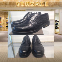 【18AW NEW】VERSACE_men / BROUGUED GRECA STRAP OXFORD SHOES