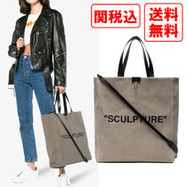 SALE! 関税・送料込 OFF-WHITE SCLPTURE キャンバストート