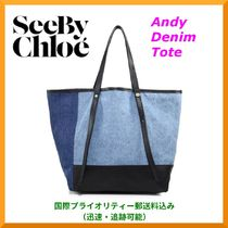 【SALE】See By Chloe Andy デニム&レザー・トート