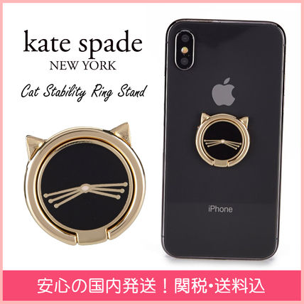 kate spade new york iPhone・スマホケース 【国内発送】Cat Stability Ring Stand セール