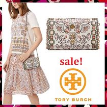 セール新作 Tory Burch 日本未発売色 Hicks Garden Chain Wallet