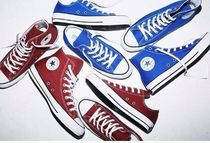 国内発★ Converse ALL STAR 100 COLORS HI/ OX★ 青/エンジ茶赤