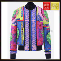 【ヴェルサーチ】Quilted Bomber Jacket With Medusa Pop