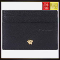 【ヴェルサーチ】Medusa Card Case In Grained Leather Black