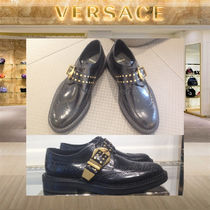 【18AW】VERSACE_men / STUDDED BELT LEATHER LO-TOP BROGUES