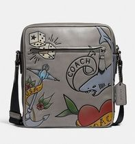 Coach ◆ 25987 Metropolitan flight bag with tattoo tooling