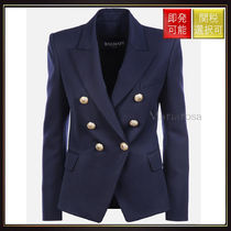 【バルマン】Double Breasted Wool Jacket Marine