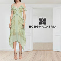 BCBG MAXAZRIA Linette Asymmetrical Slip Dress ワンピース