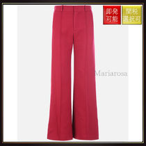 【シーバイクロエ】Cotton Wide Leg Pants Dusky Red