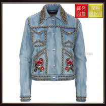【グッチ】Studded Denim Jacket Multi