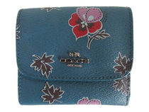 COACH Wildflower Print PVC Small Wallet F15563