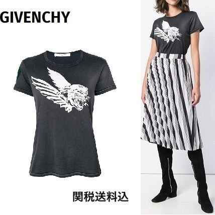 18AW関送込◆GIVENCHY◆Flying Cat プリント コットン Tシャツ