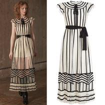 18-19AW RV122 LOOK30 TULLE MIDI DRESS WITH RIBON TIE