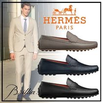 HERMES エルメス Pacome モカシン カーフスキン 3色
