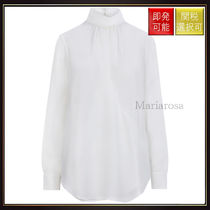 【クロエ】High Neck Silk Blouse White