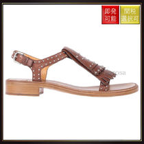 【チャーチ】Thais Sandals In Studded Leather Brown