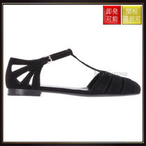 【チャーチ】Rainbow Suede Sandals Black
