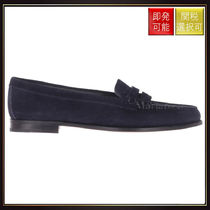 【チャーチ】Kara Suede Loafers Navy Blue