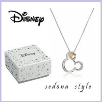 ★Disney★Sterling Silver and 10k Gold Mickey Mouse Pendant