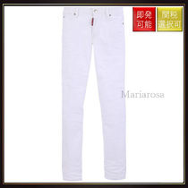 【ディースクエアード】Twiggy Cropped Jeans White