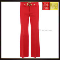 【グッチ】Cady Cropped Pants Red