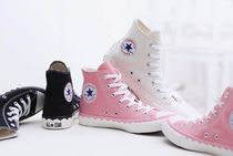 かわいい!! Converse ALL STAR SCALLOPTAPE HI★ 白/ピンク/黒
