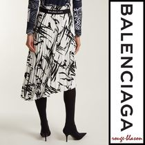 【国内発送】Balenciaga スカート Abstract-print pleated midi