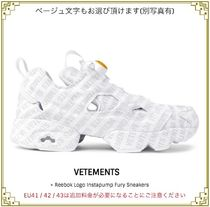 VETEMENTS(ヴェトモン) スニーカー ★期間限定★VETEMENTS +REEBOK Logo Instapump Fury Sneakers