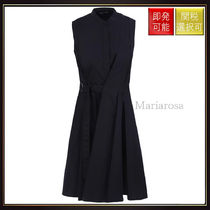 【プロエンザスクーラー】Cotton Poplin Wrap Dress Black