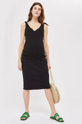 TOPSHOP マタニティワンピース 【国内発送・関税込】TOPSHOP★MATERNITY Tie Lettuce Bodycon(3)