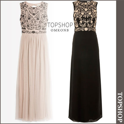 TOPSHOP ドレス-ロング 【国内発送・関税込】TOPSHOP★Andora Maxi by Lace & Beads