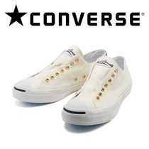 2WAY!! 国内正規品★ Converse JACK PURCELL フエルトロゴ★ 白