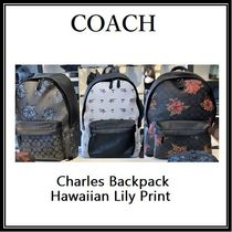 COACH ◆ CHARLES BACKPACK リュックサック・ハワイアンプリント