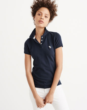 Abercrombie & Fitch ポロシャツ 【海外買付】新作!アバクロウィメンズ アイコンCLASSIC POLO(2)