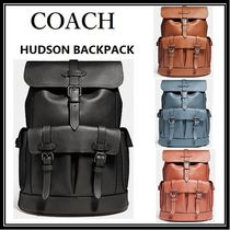 COACH ◆HUDSON BACKPACK リュックサック◆レザー・ブラック他