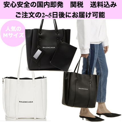 安心の国内即発♪☆BALENCIAGA EVERYDAY TOTE M Black A4収納可