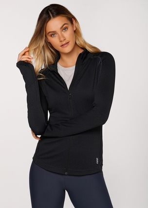 Lorna Jane フィットネストップス ★追跡有【Lorna Jane】Cosy Active L/Slv Jacket★(5)