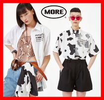 more than dope(モアザンドープ) ブラウス・シャツ ☆人気【MORE THAN DOPE】☆ Shoulder pad shirts ☆2色☆UNISEX