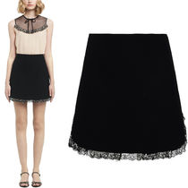 MM517 CADY MINI SKIRT WITH CRYSTAL EMBELLISHED LACE TRIM