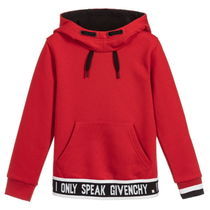 New▼GIVENCHY Kids▼ロゴフーディ Red/6~12Y 大人OK 【関税込】