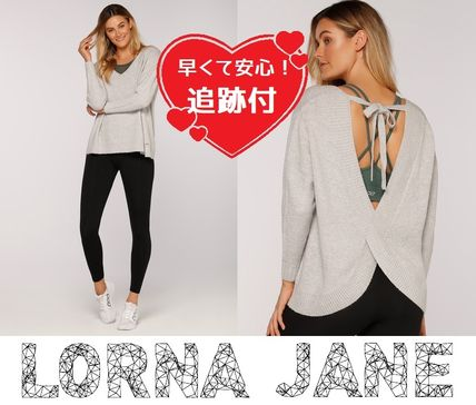 Lorna Jane フィットネストップス ★追跡有【Lorna Jane】Namaste L/Slv Knit Top★